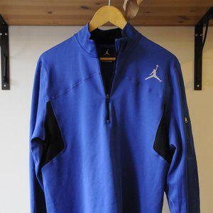Jordan Pullover Athletic Sweater Blue Half-zip